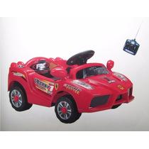 Carro Elétrico Infantil Mini Ferrari Com Controle Remoto