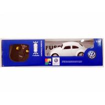 Carro Controle Remoto Volkswagen Fusca Branco 1:24 Cks Toys