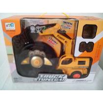 Trator Escavadeira Rc Braço Hidraulico 5 Canais A6 Pb