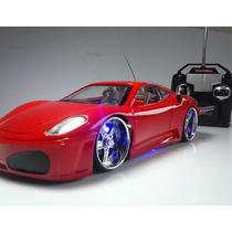 Carrinho Controle Remoto Ferrari Led Nas Rodas Farol Toys Vm