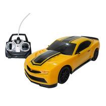 Carrinho De Controle Remoto Camaro Bumblebee Miniatura 1/18