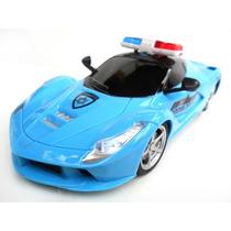 Carrinho De Polícia Controle Remoto R/c 4-canais