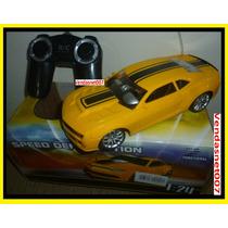 Carrinho Controle Remoto Recarregável Camaro Amarelo Com Luz