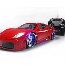 Ferrari Carro Carrinho De Controle Remoto Neon Leds