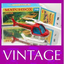 1982 Matchbox Lesney Helicoptero + Box Custom Carrinho 1/64