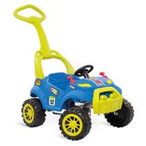 Carrinho Smart Car 2 Em 1 Passeio Pedal Bandeirante Azul