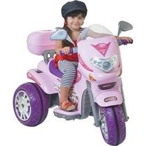 Moto Elétrica Infantil 6v Sprint Rosa Jessica Brinquedos