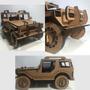 Jeep Madeira Mdf 3mm Artesanal Carro Puzzle 3d Jipe Oferta!!