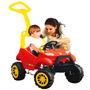 Mini Veículo Smart Car 2 Em 1 Vermelho E Amarelo Bandeirante