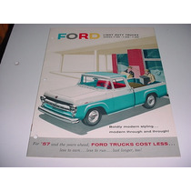 Folder Ford F100 F-100 Pickup Picape Furgao 57 1957 V8 F 100