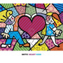 Poster (81 X 71 Cm) Heart Kids Romero Britto