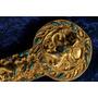 Detalhe De Punhal Ouro Artefatos A Partir De Tillya Tepe