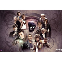 Poster (91 X 61 Cm) Doctor Who - Doctors Collage