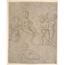 Cemco Nu Infants Em Vário Poses Poster Círculo De Raphael