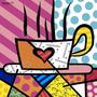 Poster (28 X 36 Cm) Latte Love Romero Britto