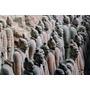 Três Fileiras De Qin Terra Cotta Guerreiros Xian China