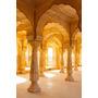 Colonnaded Galeria Âmbar Forte Jaipur Rajasthan Índia.