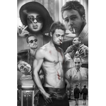 Poster (61 X 91 Cm) Fight Club - Character Collage
