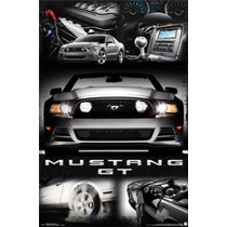 Poster (61 X 91 Cm) Mustang - 2014 Gt Collage