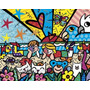 Poster (102 X 91 Cm) In The Park Romero Britto
