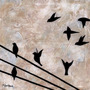 Poster (30 X 30 Cm) Birds On A Wire Ii Britt Hallowell