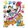 Poster (41 X 51 Cm) Mickey Mouse:painting Colors Walt Disney
