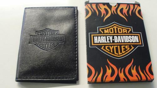 Carteira Porta Documentos É Cartões Harley Honda Suzuki Star