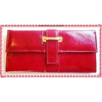Carteira Porta Cheque Executiva Feminina Ref 9340-a Vermelha
