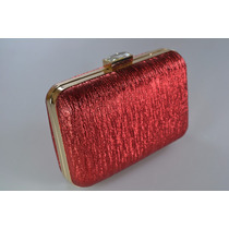 Bolsa Clutch Festa Feminina Rose Marrom Dourado Prata Jx-04