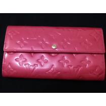 Carteira Sarah Louis Vuitton Monogram Vernis Original Pink