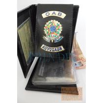 Porta Notas Cartões Feminina Advogada Oab Couro Legítim C64p