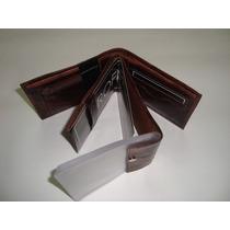 Carteira Porta Cheque, Moeda, Cartões Couro Natural