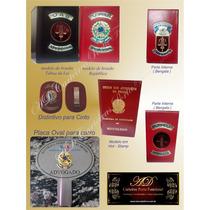 Promoção Kit ( Porta Funcional + Distintivo + Placa Oval)