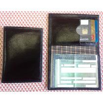 Porta Documentos E Cartoes Em Couro Legitimo Frete Gratis