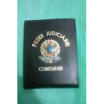 Carteira (porta Notas) Couro Poder Judiciário Comissário