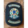 Distintivo Oficial De Justiça Couro - Preto