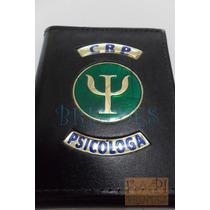 Porta Cheques Crp Psicóloga Brasão Logotipo Psicologia Couro