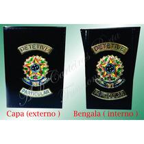 Carteira Porta Funcional Detive Particular Brasão Republica