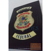 Carteira Em Couro Legítimo Logo Brasão Justiça Federal P75p