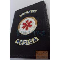 Porta Funcional De Médica Tipo Distintivo Brasão Samu P147p