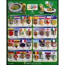 34 Distintivos Equipes Copa Do Mundo Fifa 2014 - Novo