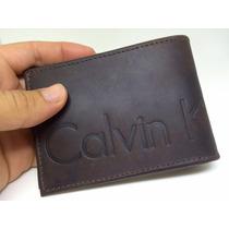 Carteira Masculina Pequena Calvin Klein Ck En Couro Original