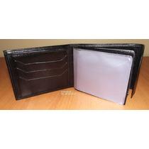 Carteira Velcro Diversas Repartições Em Couro - Frete 6,50