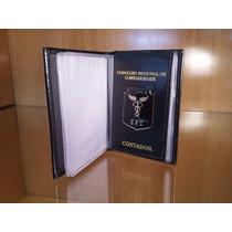 Carteira Porta Documentos Funcional Crc Contador (a) (couro)