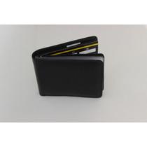 Carteira Masculina,couro Legitimo,ziper P/cheque,cartões/51p