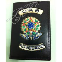 Porta Funcional Oab Advogado Proteção Oab Couro Legítimo