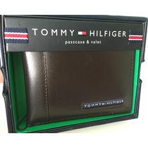 Carteira Tommy Hilfiger Couro *grátis Mini Carteira Original