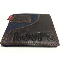 Carteira Masculina Levis De Couro Com Jeans Original