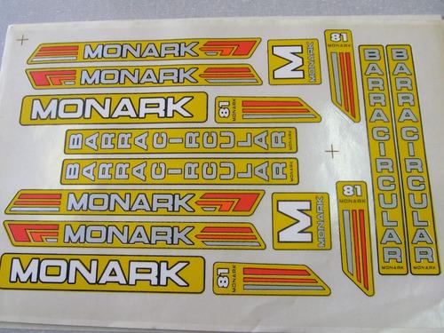 Adesivo De Parede Onde Comprar ~ Cartela Adesivo Bicicleta Monark 81 Amarelo Frete Gratis R$ 18,00 no MercadoL