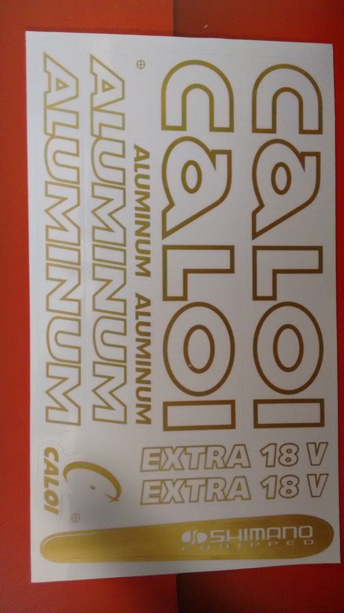 Adesivo De Parede Feminino ~ Cartela Adesivo Bike Caloi Aluminum Dourado Bicicleta R$ 13,90 no MercadoLivre